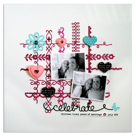 cute couple scrapbooking layout.  anniversary layout. #scrapbooking #layout #love
