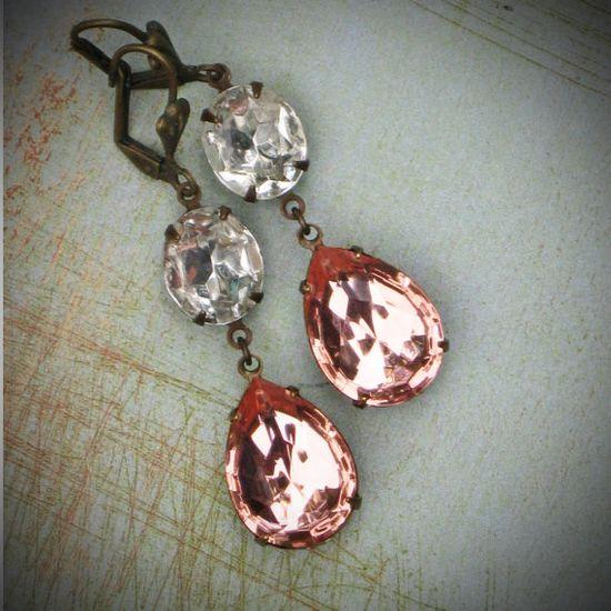 Handmade Earrings From Vintage Stones by @Rew Elliott #jewelry #fashion #accessories #brigteam #earrings #gift $31.00