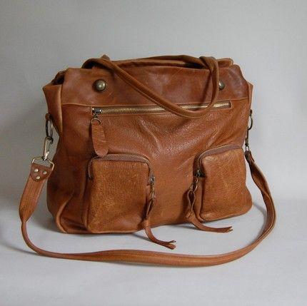 chestnut leather bag