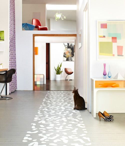 painted floor runner. #home #decor #zappos