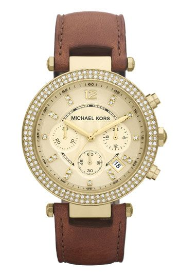 Michael Kors 'Parker' Chronograph Leather Watch.. THIS IS MY DREAM WATCH
