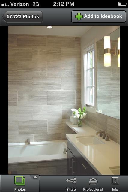 Bathroom linen-like tile