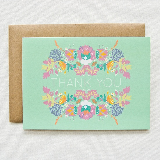 botanical gardens thank you card