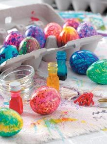 Love these eggs and egg painting brushes
