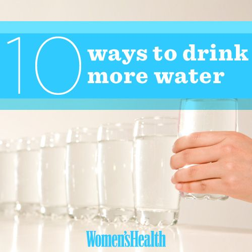 10 Ways to Drink More Water
