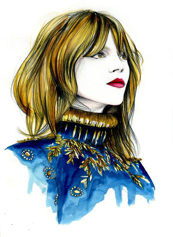 Insanely cool fashion illustrations by Karolyn Andrieu