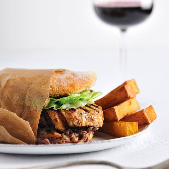 Chicken Burgers with Spicy Peanut Sauce // More 30-Minute Burgers: www.foodandwine.c... #foodandwine