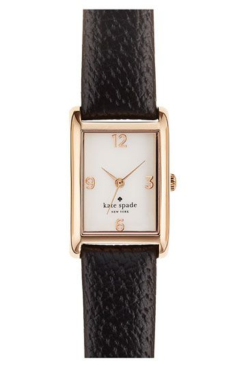 'Cooper' leather strap watch