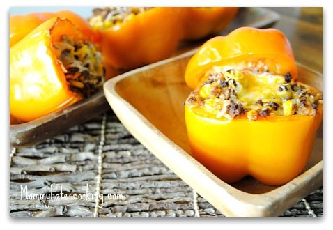Freezer Cooking:  Mexi Stuffed Peppers