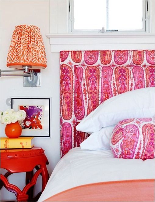 pink and orange bedroom mona ross berman