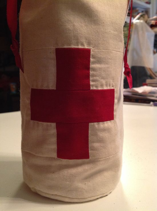 """""""In case of emergency"""" hand made gift bag."""