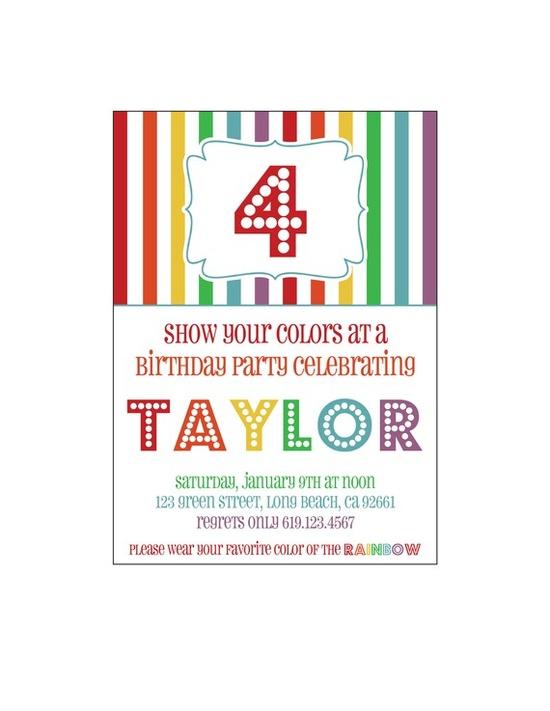 Rainbow Party :: invitation