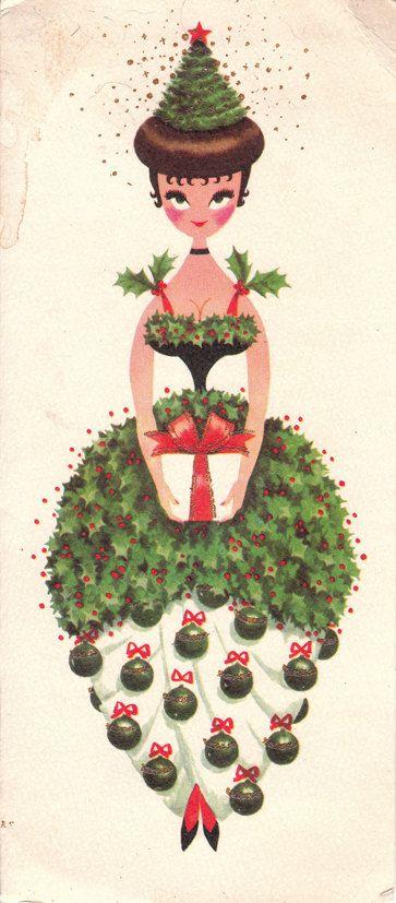 A darling vintage 1960s Christmas card. #vintage #Christmas #cards
