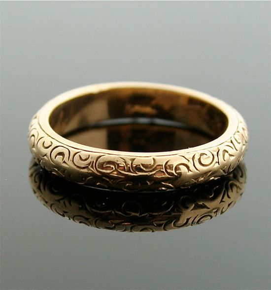 Antique Gold Band by SITFineJewelry on Etsy, $695.00