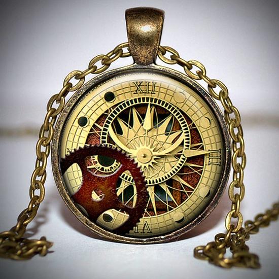 Steampunk pendant  Steampunk Jewelry  Steampunk Necklace by Jaylos,