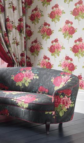 nina campbell rosa alba fabric and wallpaper