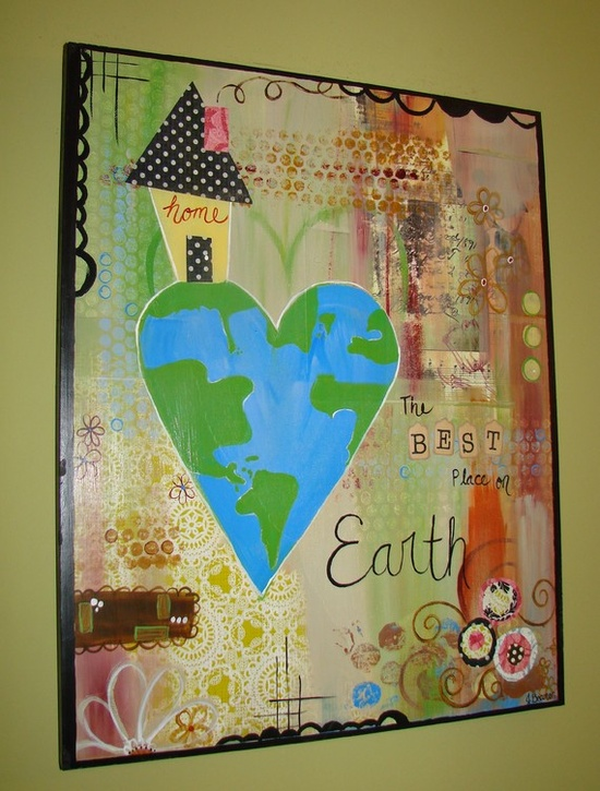 large collage canvas