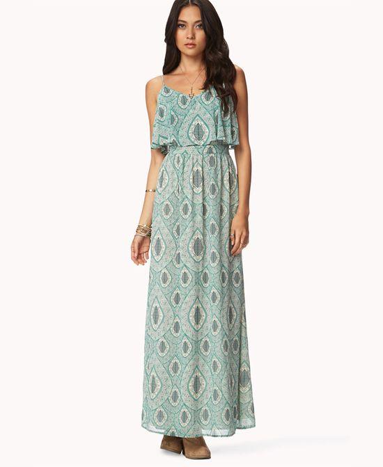 Flounced Maxi Dress