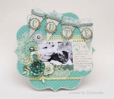 Cute card. . .could be scrapbook layout.