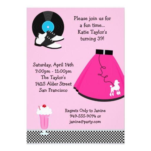 50s Party Invitation