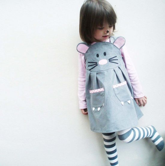 little mouse dress, wild things dresses (etsy)