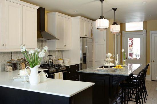 sarah richardson sarah 101 black yellow kitchen