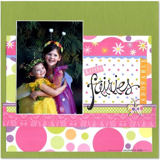Little Fairies - Scrapbook.com - #scrapbooking #layouts
