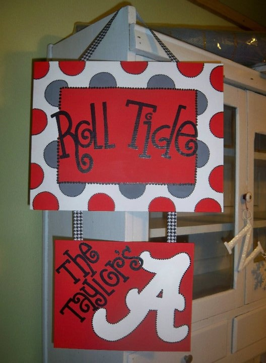 Roll Tide Welcome Canvas Painting.. doing it :)