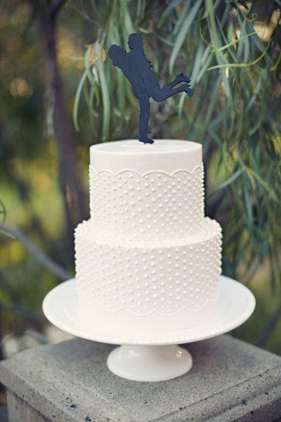 dotted silhouette cake by simplysweetcakery... , Photography by loveisabird.com  Read more - www.stylemepretty...