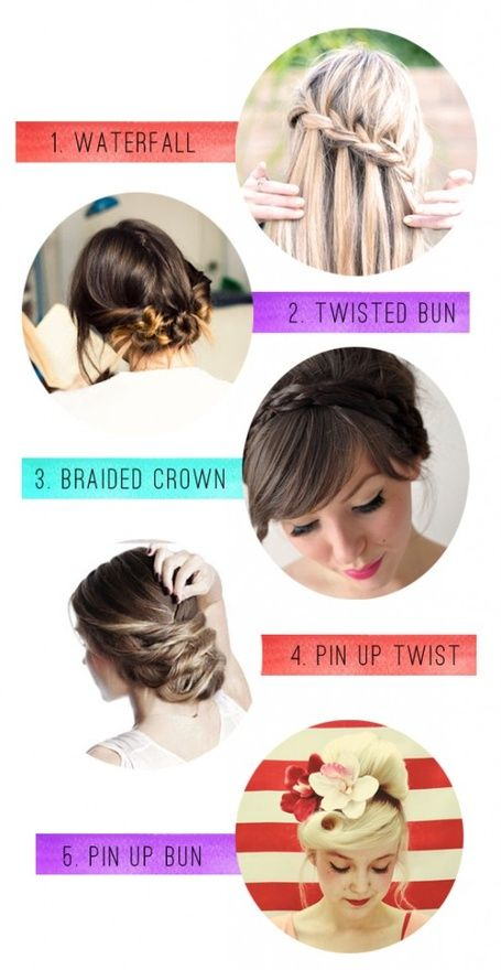 hair styles for long hair. I especially like the third hairstyle.