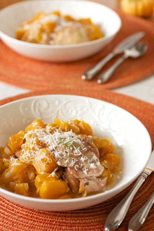 Crockpot Rosemary Chicken with Butternut Squash