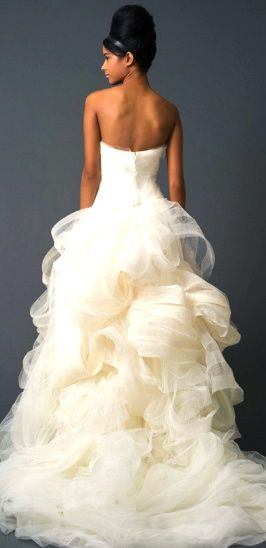 Vera Wang.  I love her stuff.  There was a Vera Wang Bridal store in our hotel in Singapore.
