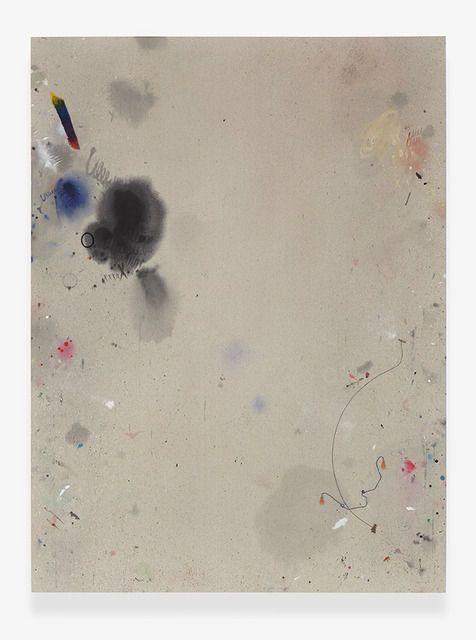Amanda Ross-Ho . dropcloth painting (cat dancer 3)