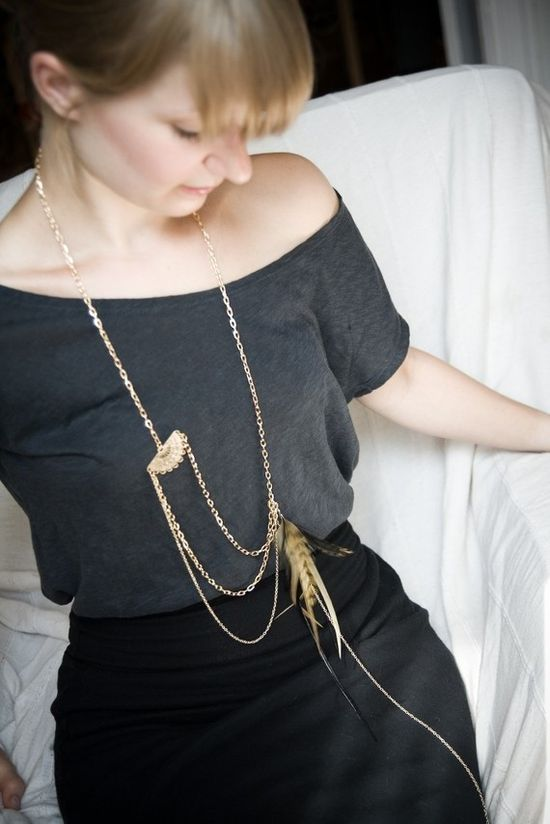 Dylan Feather Necklace by @Noémiah ?