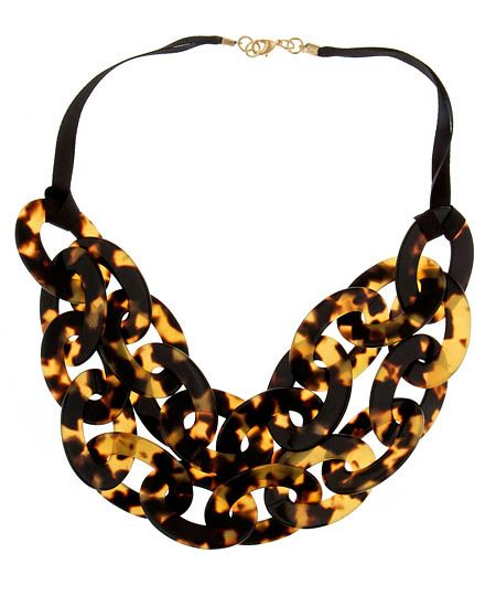 Tortoiseshell Double-Strand Bib Necklace by: Lisa August