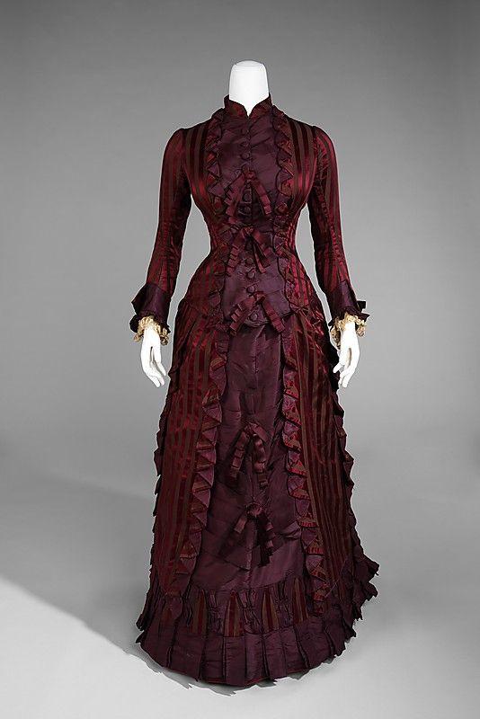 Wedding Ensemble, 1878, American. Silk. Brooklyn Museum Costume Collection at The Metropolitan Museum of Art,