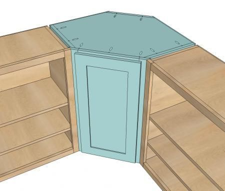 DIY Furniture : DIY Wall Kitchen Corner Cabinet