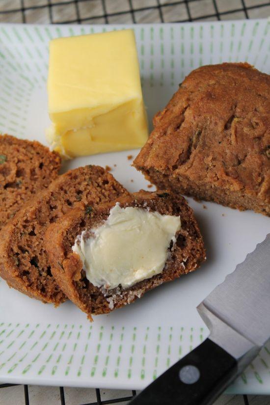 Healthier Zucchini Bread – Gluten Free ; Vegan