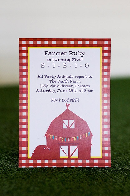 Invites barn party