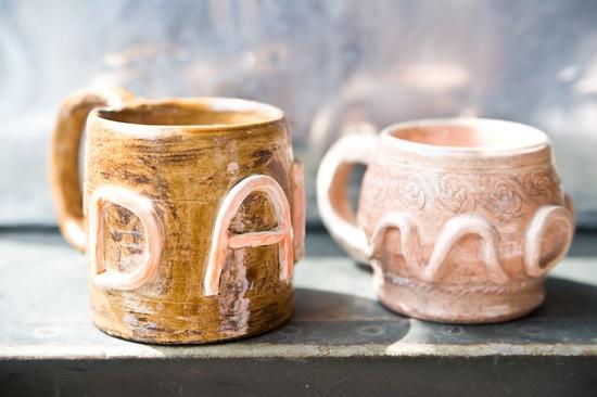 Mom Dad Mugs - Vintage Handmade Pottery