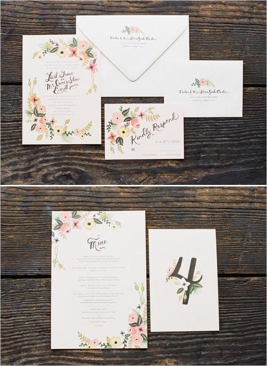 ruffled wedding invite