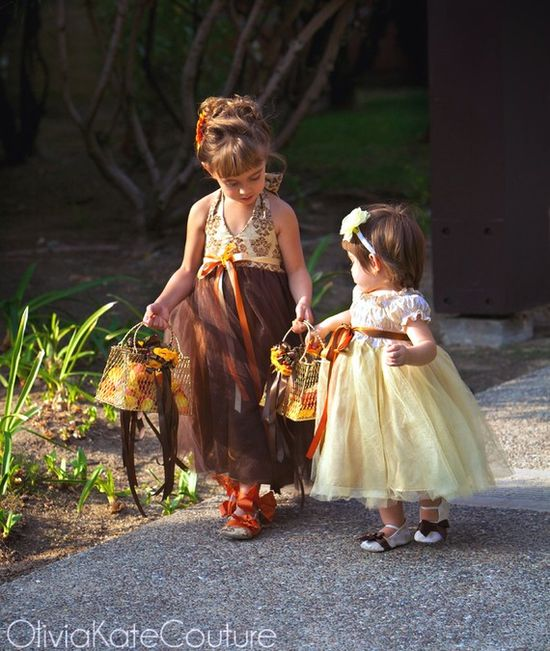 These flower girl dresses are adorable