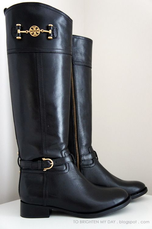 Tory Burch riding boots.