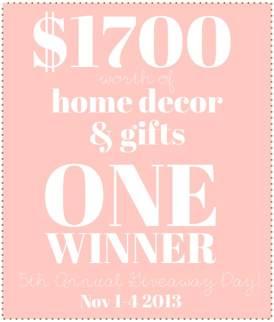 Win $1700 in home decor and gifts!!!