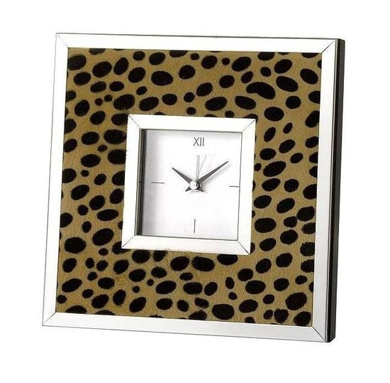 Sterling Silver Faux Cheetah Hide Clock Courtesy of InStyle-Decor.com Beverly Hills Inspiring & supporting Hollywood interior design professionals and fans, sharing beautiful luxe home decor inspirations, trending 1st in Hollywood Repin, Share & Enjoy