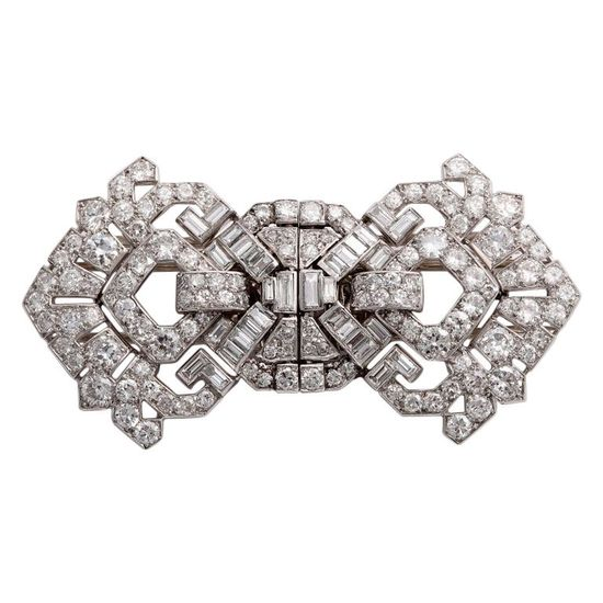 CARTIER Art Deco Diamond Clips