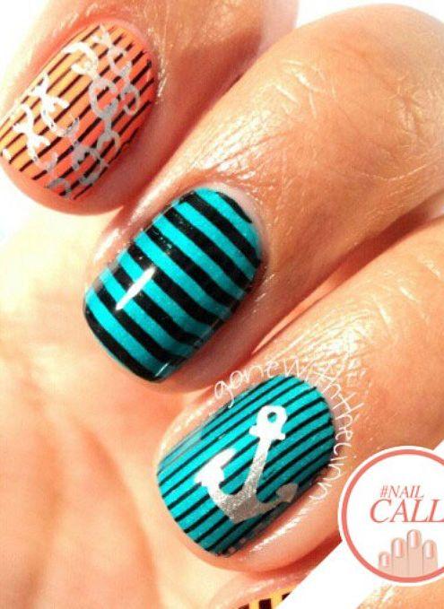 anchors away! perfect nail art for summer
