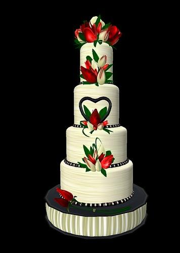 Budding Love Wedding Cake by Tragic Muse