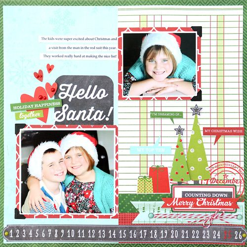 Hello Santa Layout - Scrapbook.com