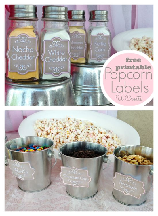 """Ready to """"POP"""" baby shower - free popcorn shaker printables"""